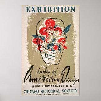 American Design Exhibition Vintage Poster