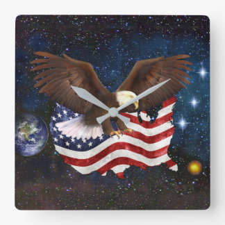 AMERICAN DESTINY SQUARE WALL CLOCK