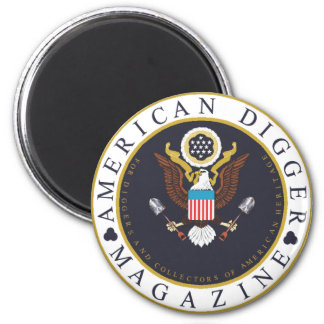 American Digger Logo 6 Cm Round Magnet