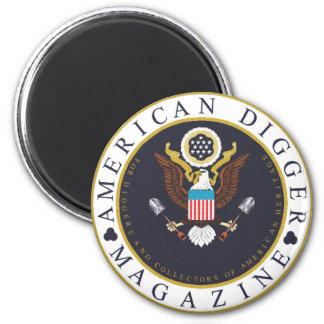 American Digger Logo 6 Cm Round Magnet