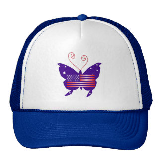 American Diva Butterfly Cap