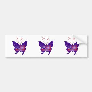 American Diva Butterfly Car Bumper Sticker
