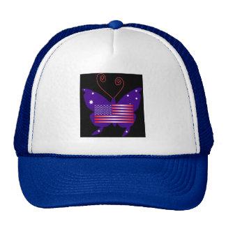 American Diva Butterfly Mesh Hats