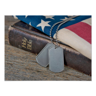 American Dog Tags Poster