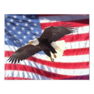 American Eagle & American Flag Invitation