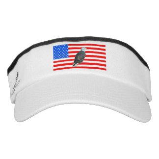 American Eagle and American Flag Visor