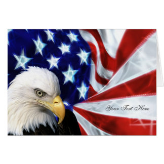 American Eagle and Flag Patriotic Greeting Cards