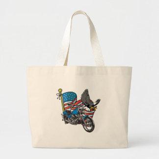 American Eagle Biker Tote Bags