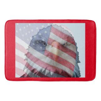 American Eagle Bird Flag Patriot Bath Mat Bath Mats