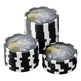 American Eagle bird Poker Chips