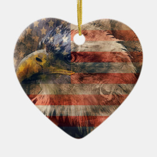 American eagle ceramic ornament
