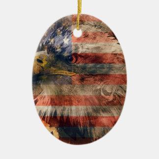 American eagle ceramic oval decoration