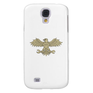 American Eagle Clutching Spanner Drawing Samsung Galaxy S4 Cases