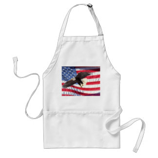 American Eagle & Flag Apron