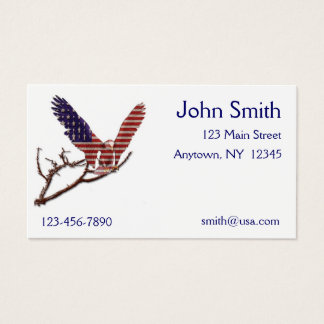 American Eagle Flag Business Card