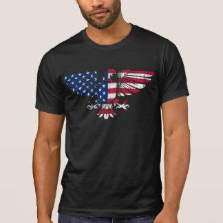 American Eagle Flag Design.Black T-Shirt for Men.
