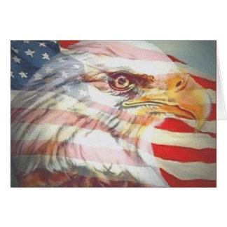 American Eagle Flag Greeting Card