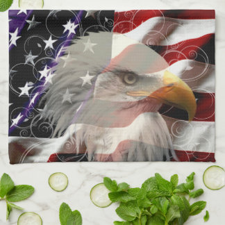 American Eagle Flag Kitchen Towel