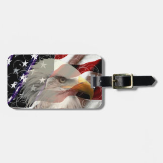 American Eagle Flag Luggage Tag