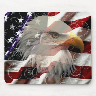 American Eagle Flag Mouse Pad