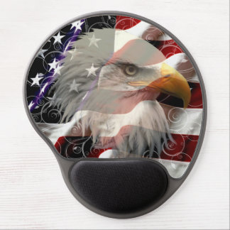 American Eagle Flag Mouse Pad Gel Mouse Pad