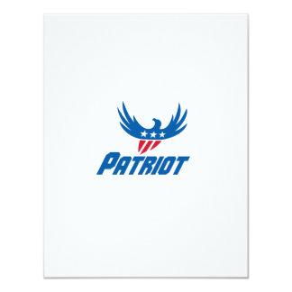 American Eagle Flying USA Flag Patriot Retro 11 Cm X 14 Cm Invitation Card