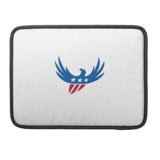 American Eagle Flying USA Flag Retro MacBook Pro Sleeves