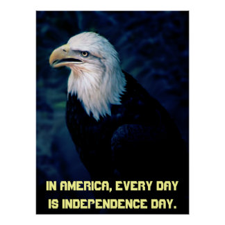 American Eagle Independence Day Poster