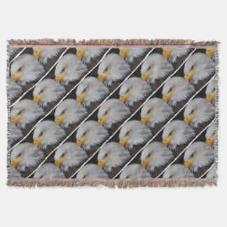 AMERICAN EAGLE - Jean Louis Glineur Photography Throw Blanket