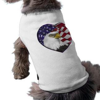 American Eagle n Flag Dog T-shirt