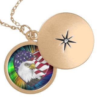 American Eagle n Flag Locket