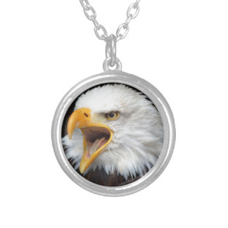 AMERICAN EAGLE - Photography Jean Louis Glineur Silver Plated Necklace