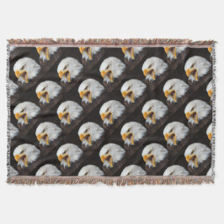 AMERICAN EAGLE - Photography Jean Louis Glineur Throw Blanket