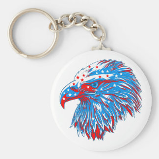 American Eagle Round Key Ring