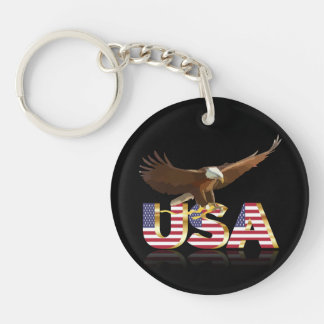 American eagle Single-Sided round acrylic key ring
