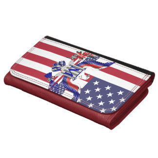 American eagle symbol leather wallets
