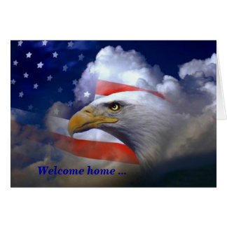 American Eagle Welcome Home and Thank You Card