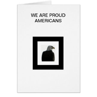 AMERICAN EAGLE WITH THE AMERICAN FLAG GREETING CARD