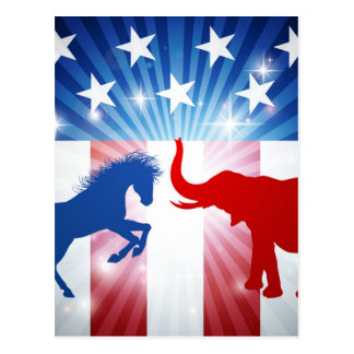 American Election Concept Postcard