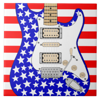 American Electric Guitar Ceramic Tile