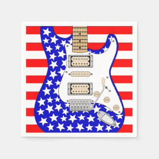 American Electric Guitar Paper Napkin