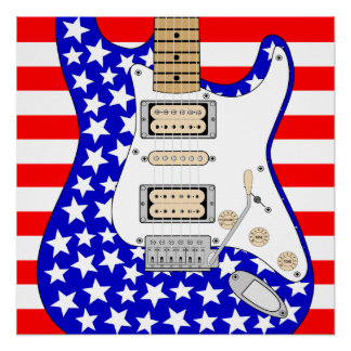 American Electric Guitar Poster