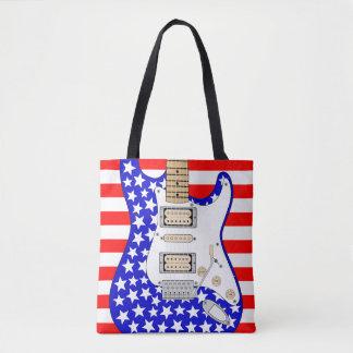 American Electric Guitar Tote Bag