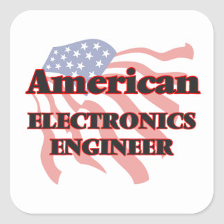 American Electronics Engineer Square Sticker