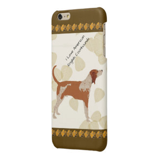 American English Coonhound on Tan Leaves, Brn Paws