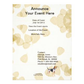 American English Coonhound with Tan Leaves Flyers