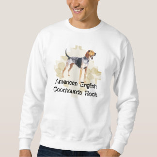 American English Coonhound with Tan Leaves Sweatshirt