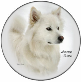 American Eskimo Art Gifts Standing Photo Sculpture