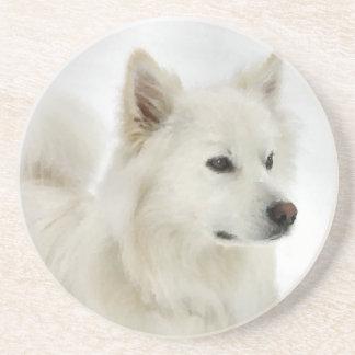 American Eskimo Dog Art Coaster