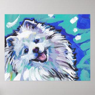 American Eskimo Dog Bright Pop Art Poster Print